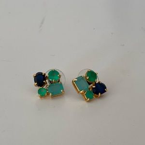 Kate Spade Green and Navy Earrings